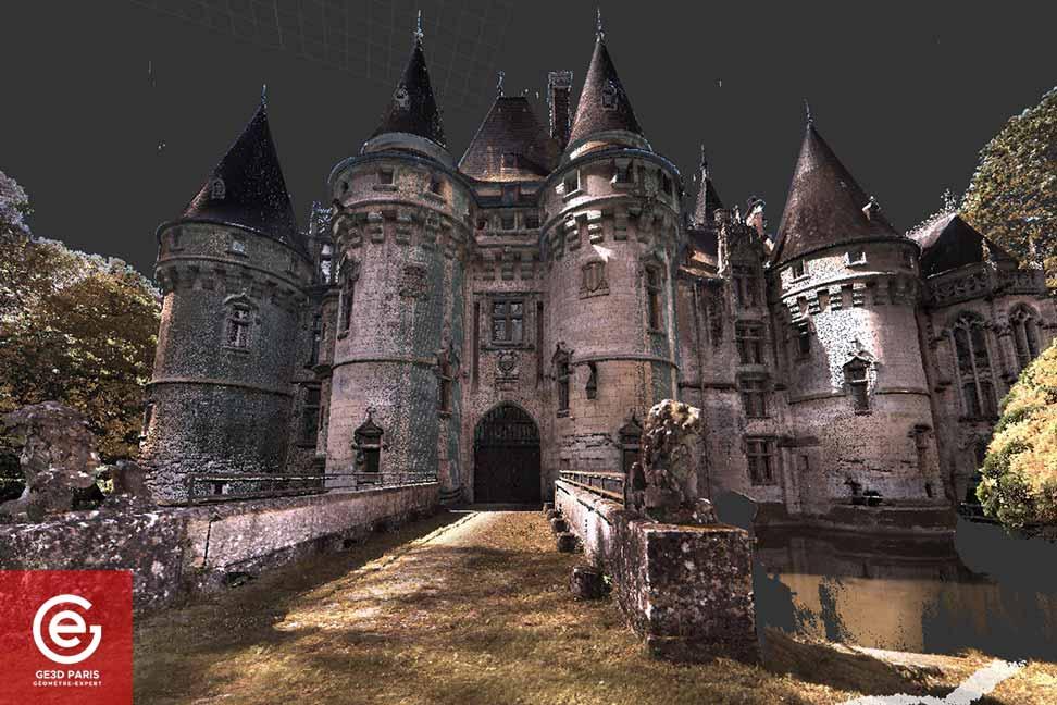 Laserscanning du Chateau de Vigny