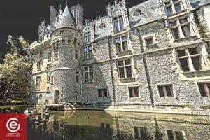 Laserscanning d'une façade du Château de Vigny