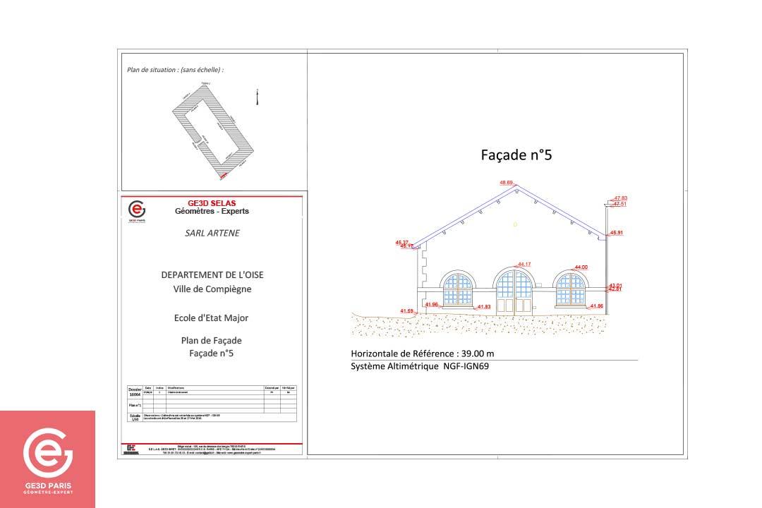 Plan de façade 5